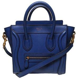Celine Blue Nano Crossbody Luggage